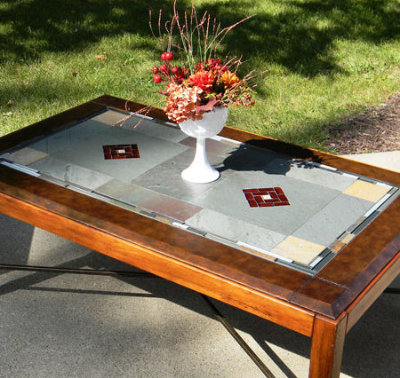 stained glass coffee table - p&r's