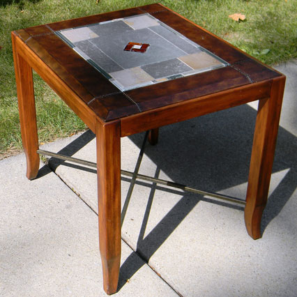 Coffee Table Stained Gl End