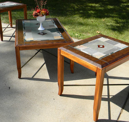 Stained Glass Inlay Coffee Table Set P R 39 S
